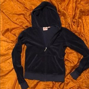 Navy blue juicy couture zip up size small